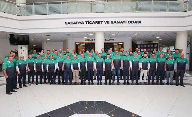 SATSO meclis üyeleri yeşil siyahlı formayı giydi!