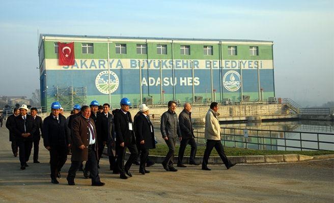 Kırgızlar SASKİ tesislerini gezdi