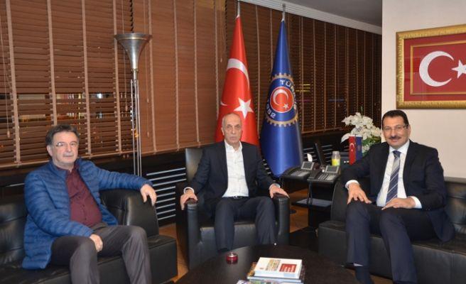 "Vekil Yavuz'dan, Ergün Atalay'a ""hayırlı olsun"" ziyareti"