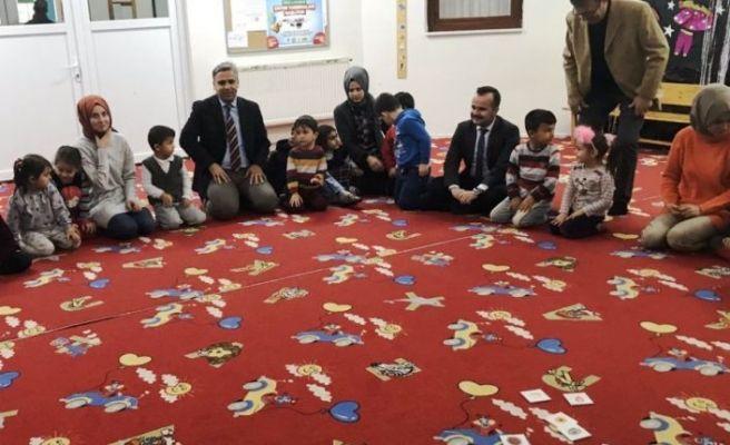 Kaymakam Arslantürk'ten anaokuluna ziyaret