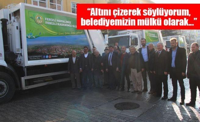 Ferizli'ye 3 çöp toplama aracı alındı
