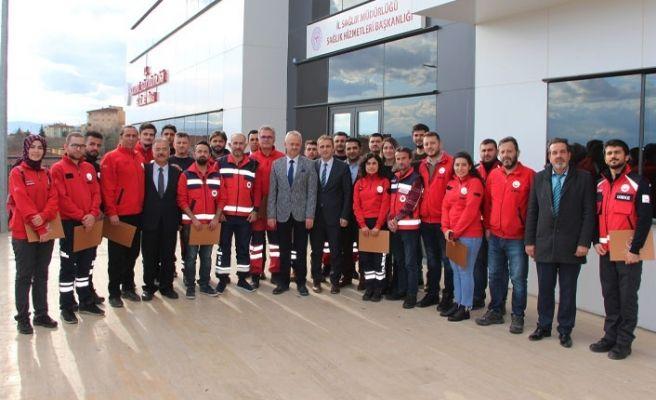 Elazığ'da görev yapan sağlıkçılara teşekkür belgesi