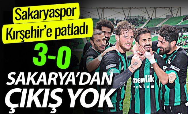 Sakaryaspor Kırşehir Belediyespor'u 3-0'la devirdi