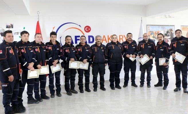 Elazığ'da görev yapan AFAD ekiplerine başarı belgesi!