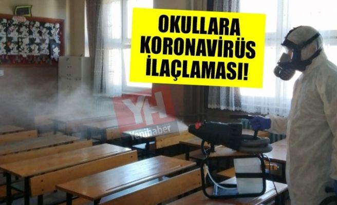 Okullara koronavirüs ilaçlaması!