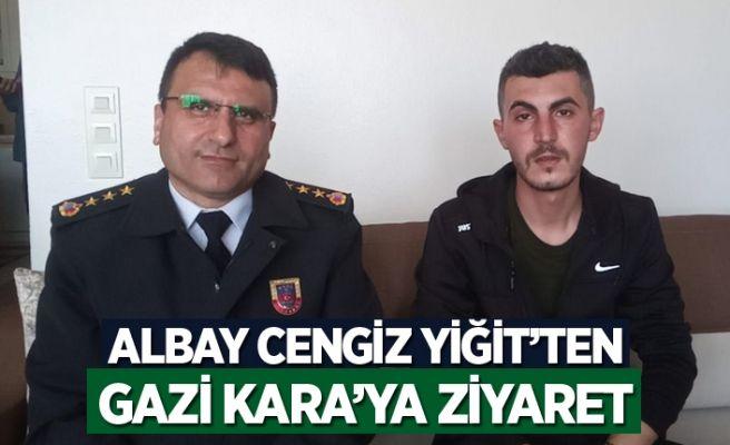 Albay Cengiz Yiğit'ten İdlib gazisine ziyaret