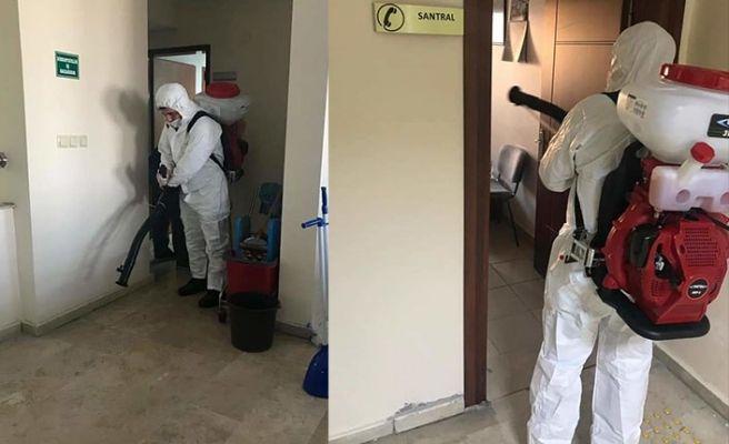 İl Milli Eğitim binası dezenfekte edildi
