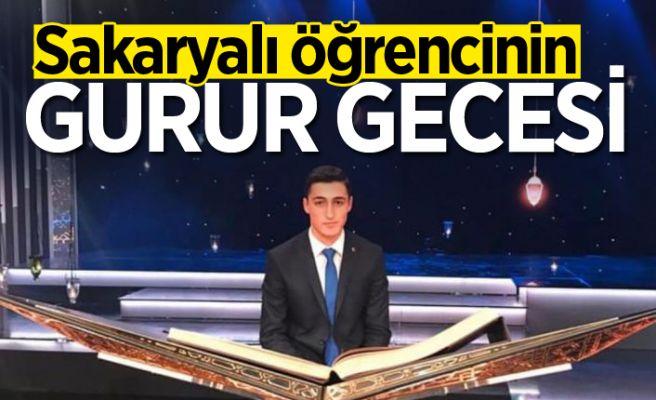 Sakaryalı öğrenci TRT'deki yarışmada birinci oldu