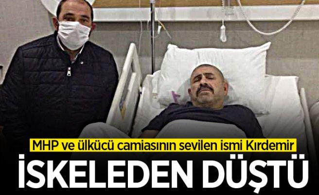 Nazım Kırdemir iskeleden düştü