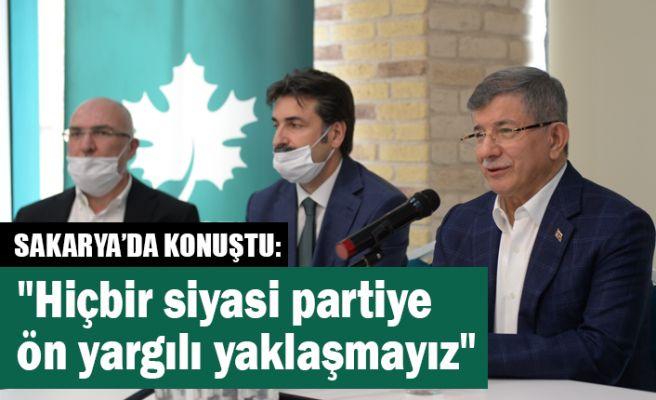Ahmet Davutoğlu Sakarya'da konuştu