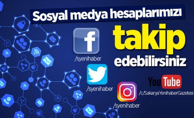 Sakarya Yenihaber'i sosyal medyadan da takip edebilirsiniz