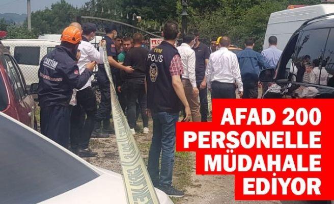 AFAD 200 personelle müdahale ediyor!