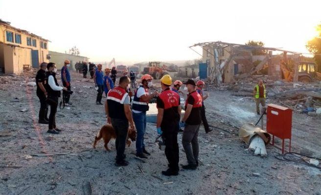 Afet Kriminal İnceleme ekibi patlama bölgesinde