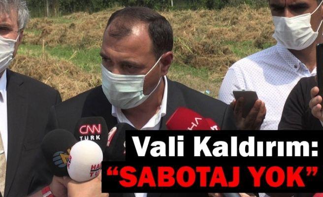 """Vali Kaldırım: """"Sabotaj yok"""""""