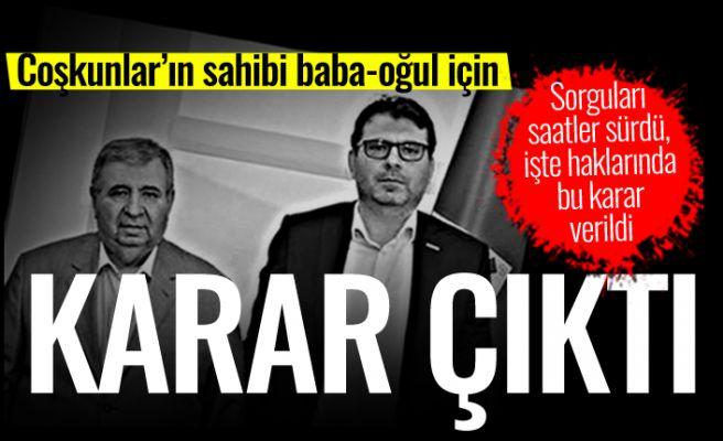 Yaşar Coşkun tutuklandı, babası serbest!