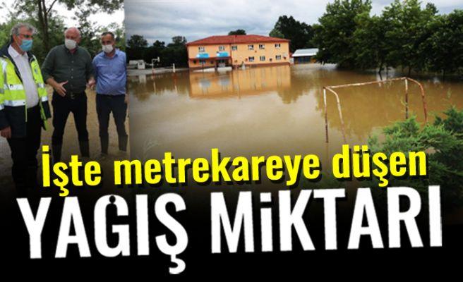 Sel bölgesinde düşen yağış miktarını başkan açıkladı