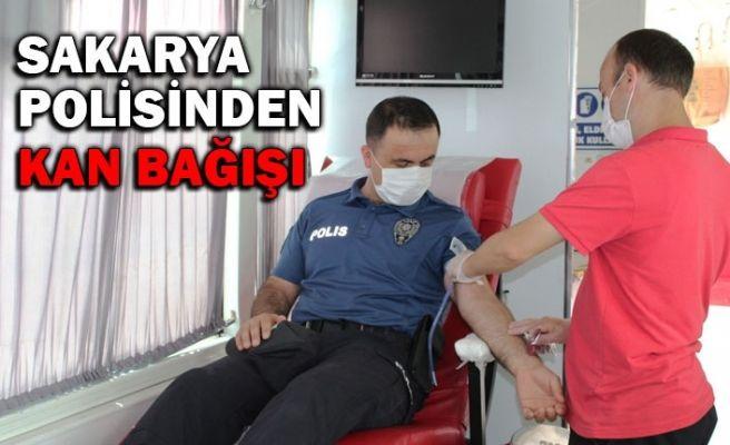 Sakarya polisinden kan bağışı