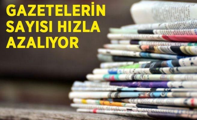 Türkiye'de gazetelerin sayısı azalıyor...