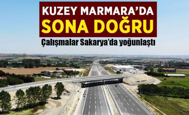 Kuzey Marmara Otoyolu'nda sona doğru...