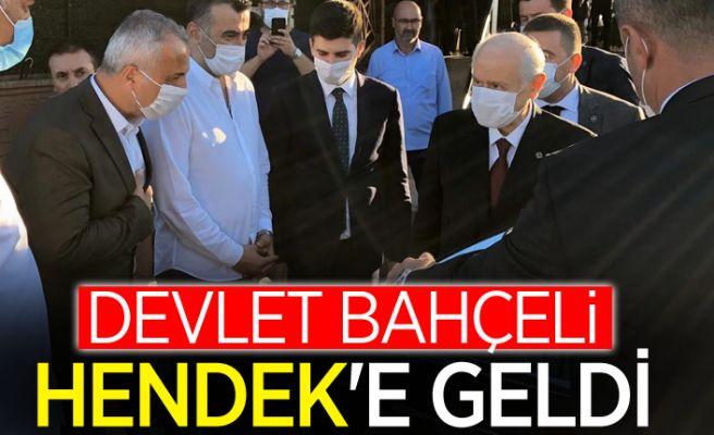 MHP lideri Bahçeli Hendek'te mola verdi