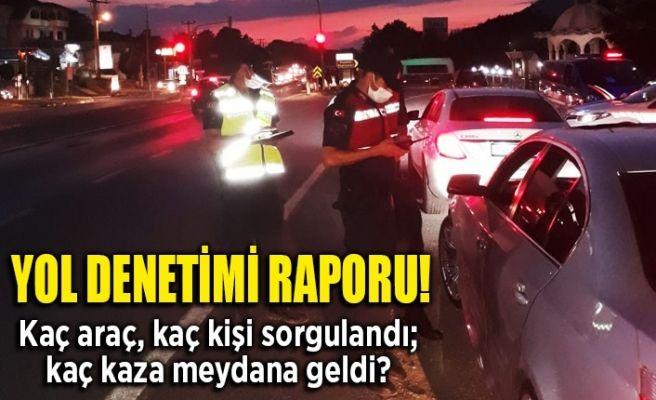 Jandarmadan yol denetimi raporu!