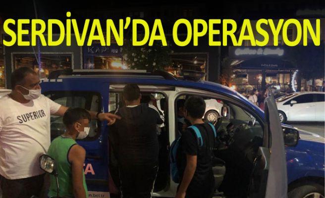 Serdivan'da dilenci operasyonu