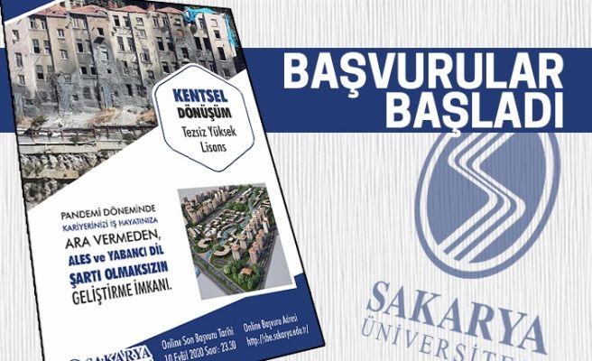 Sakarya Üniversitesi'nden tezsiz yüksek lisans fırsatı