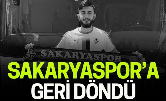 Sakaryaspor'a geri döndü