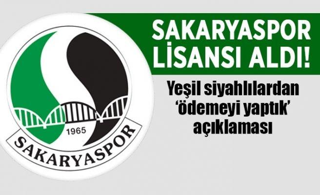 Sakaryaspor kulüp lisansını aldı!