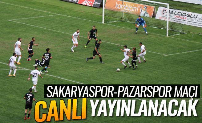 Sakaryaspor-Pazarspor  maçı canlı yayınlanacak