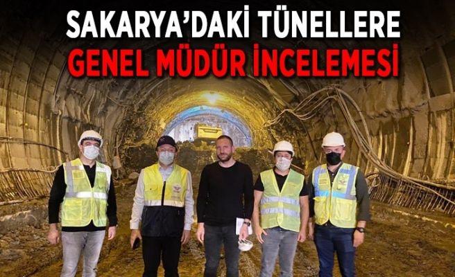 Sakarya'daki YHT tünellerine genel müdür incelemesi!