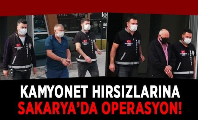 Kamyonet hırsızlarına Sakarya'da operasyon