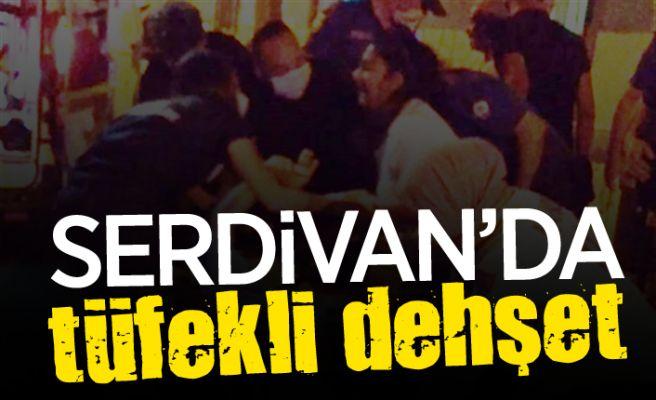 Serdivan'da tüfekle dehşet saçtı!