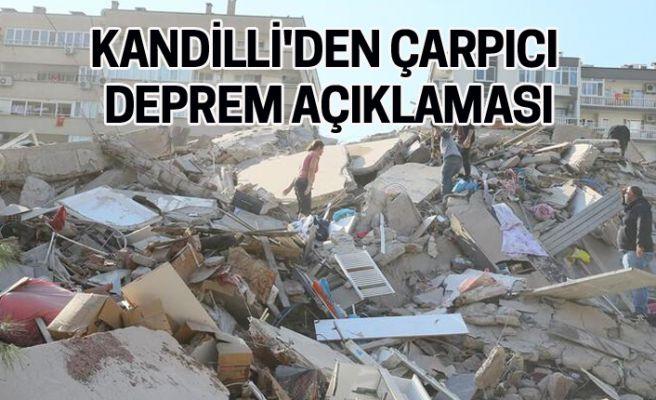 Kandilli'den çarpıcı  deprem açıklaması