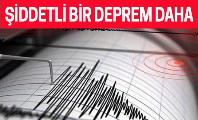 Şiddetli bir deprem daha