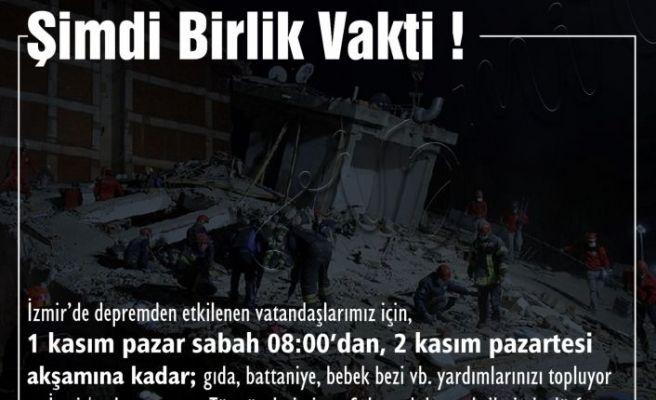 CHP Sakarya, İzmir için yardım topluyor