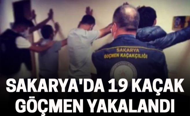 Sakarya'da 19 kaçak  göçmen yakalandı
