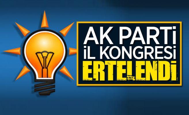 """AK Parti il kongresine """"korona"""" ertelemesi"""