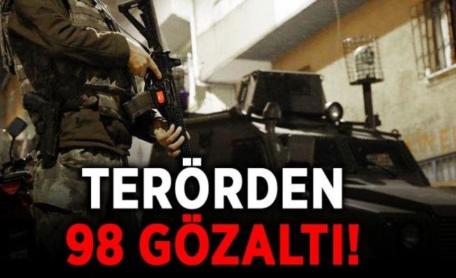 Sakarya'da 98 kişiye terör gözaltısı!
