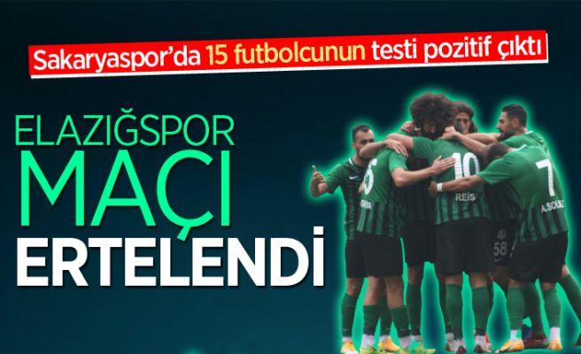 Sakaryaspor - Elazığspor maçı ertelendi!