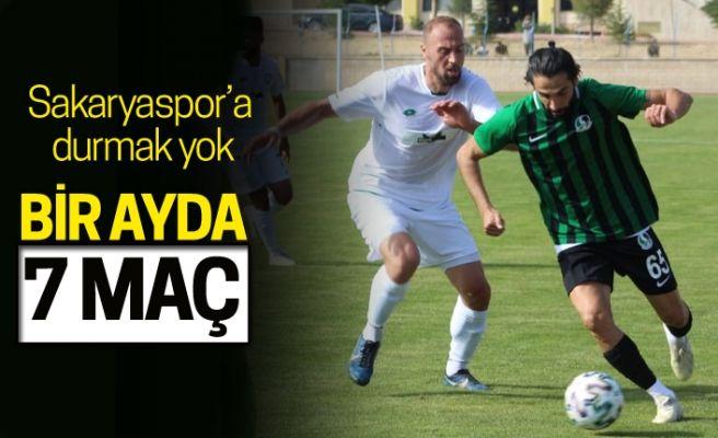 Sakaryaspor'da yoğun maç trafiği