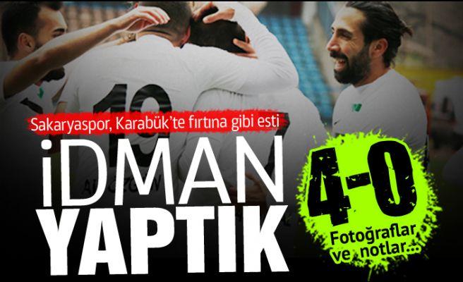 Sakaryaspor, Karabük'te idman yaptı! 4-0