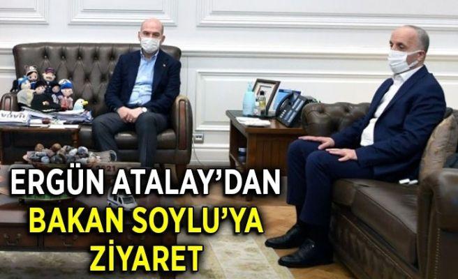 Ergün Atalay'dan Bakan Soylu'ya ziyaret