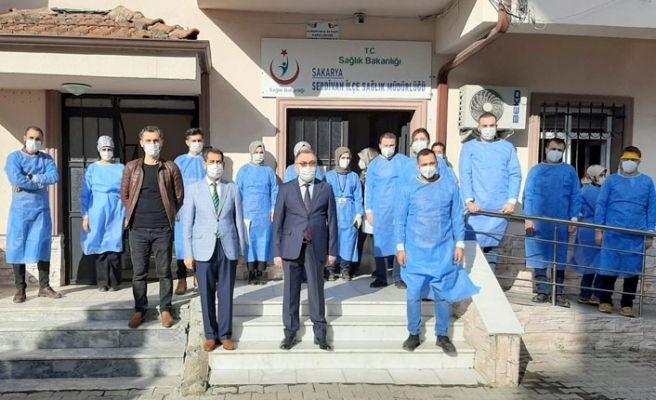 Serdivan'da filyasyon ekibine takdir belgesi
