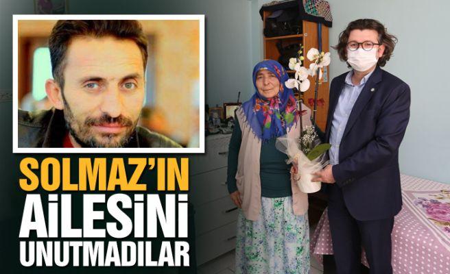 SATSO'dan gazeteci Solmaz'ın ailesine ziyaret