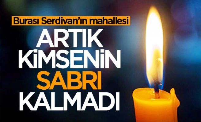 Serdivan'da artık sabır kalmadı! 'Sesimizi duyun...'