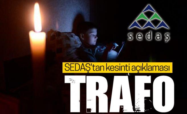"""Vatandaş isyanda! SEDAŞ'tan """"kesinti"""" açıklaması"""