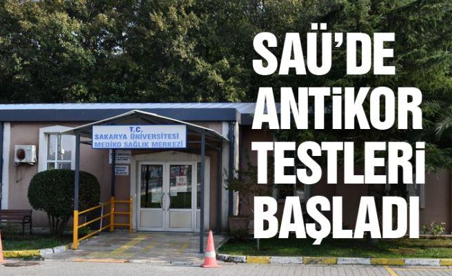 SAÜ'de antikor testleri başladı