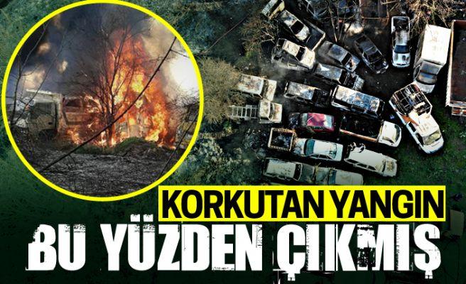 Şehirde korkuya neden olan yangının nedeni...