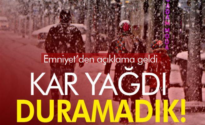 Sakarya'da kar görünce duramayanlara ceza yağdı!